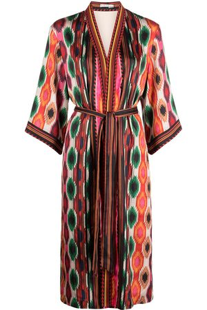 ALICE+OLIVIA Flora aztec-print kimono - Mehrfarbig