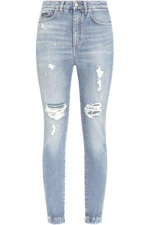 Dolce & Gabbana Skinny-Jeans im Distressed-Look