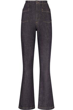 Dolce & Gabbana Damen Bootcut - Schlagjeans mit hohem Bund