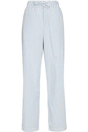 TEKLA Damen Schlafanzüge - Striped drawstring pajama trousers