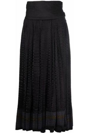 A.N.G.E.L.O. Vintage Cult 2000s striped gathered midi skirt