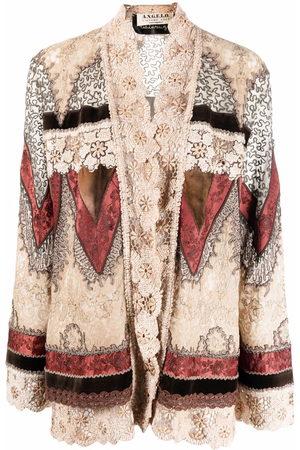 A.N.G.E.L.O. Vintage Cult 1990s crochet trimmed panelled jacket