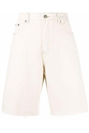 12 STOREEZ Denim bermuda shorts - Nude