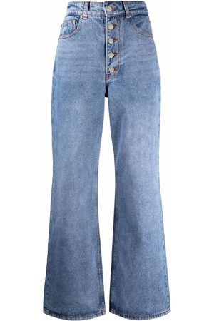12 STOREEZ High-rise button-fly jeans