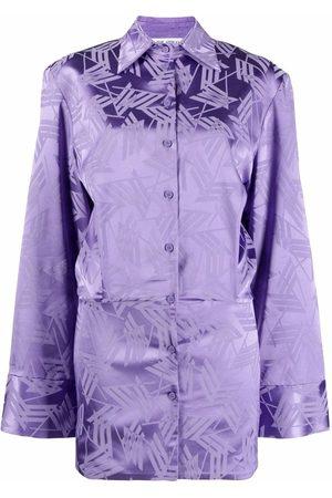 The Attico Geometric-print shirtdress