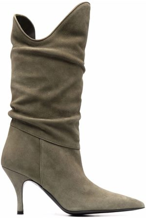 The Attico Tate 85mm suede boots