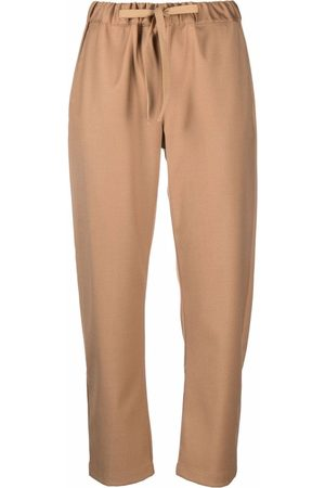 SEMICOUTURE Straight drawstring trousers - Nude