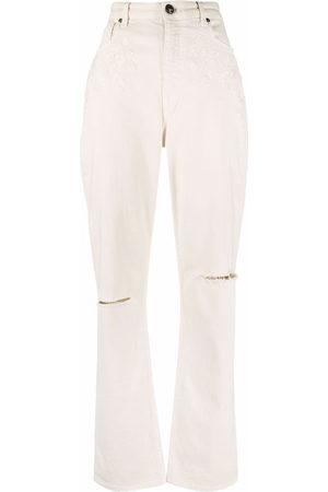 Etro High-waisted straight leg jeans - Nude