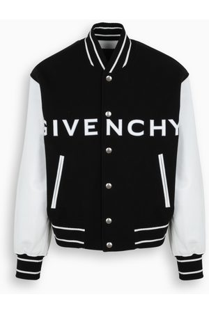 Givenchy Bomber jacket in wool and leather