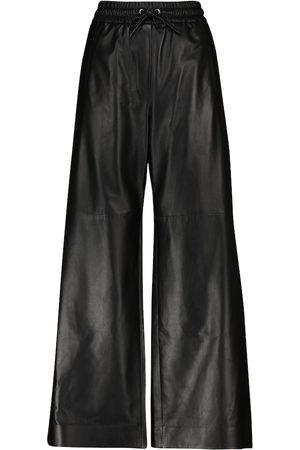 Brunello Cucinelli Lederhose mit weitem Bein
