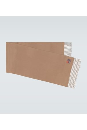 Loewe Bestickter Schal aus Kaschmir