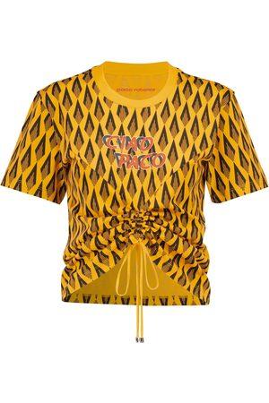 Paco rabanne Bedrucktes T-Shirt aus Baumwolle