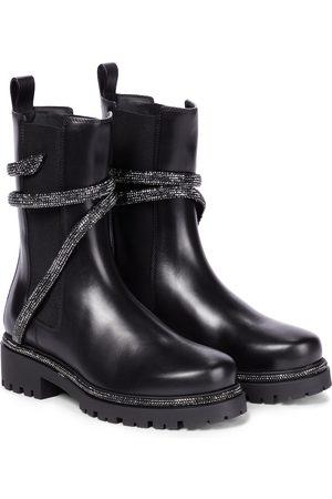 RENÉ CAOVILLA Verzierte Chelsea Boots Cleo aus Leder
