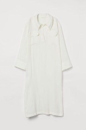 H&M Damen Tunikakleider - Kaftan mit Kragen