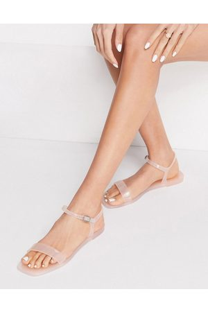 Truffle Collection – Jelly-Sandalen in Altrosa-Neutral