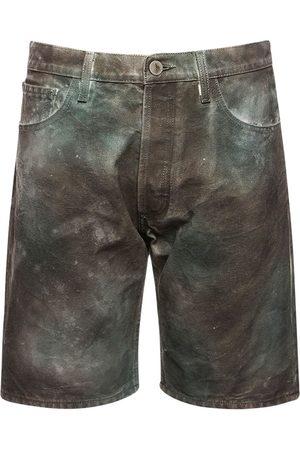 The Attico Shorts Aus Baumwollcanvas Mit Tarnfarbendruck