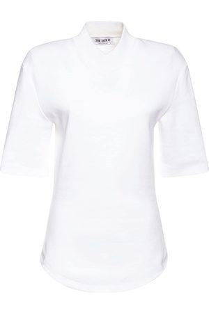 The Attico T-shirt Aus Baumwolljersey Mit V-ausschnitt