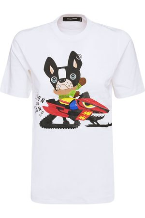 DSQUARED2 T-shirt Aus Baumwolljersey Mit Patch