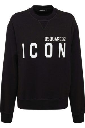 Dsquared2 Sweatshirt Aus Baumwolljersey Mit Icon-druck