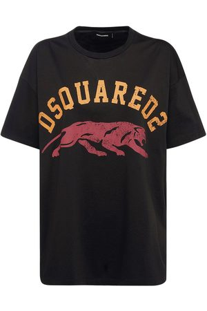 DSQUARED2 T-shirt Aus Baumwolljersey Mit Logo