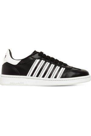"""DSQUARED2 20mm Hohe Sneakers Aus Leder """"canadian"""""""