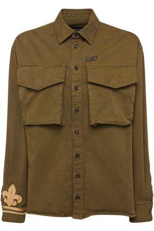 Dsquared2 Damen Blusen - Hemd Aus Stretch-baumwolle Mit Logo