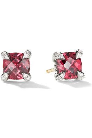 David Yurman Damen Ohrringe - Chatelaine Ohrstecker mit Granat und Diamanten