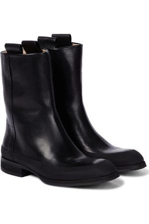 The Row Ankle Boots Grunge aus Leder