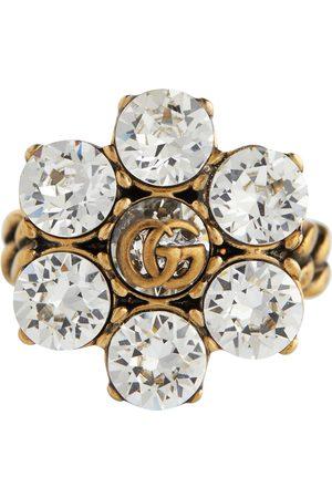 Gucci Damen Ringe - Ring Double G mit Blumenverzierung