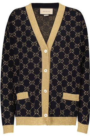 Gucci Cardigan aus Lamé und Baumwollgemisch