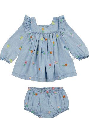 Stella McCartney Baby Outfit Sets - Baby Set aus Jeanskleid und Höschen