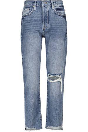 Frame High-Rise Slim Jeans Le Original