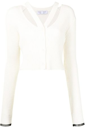 PROENZA SCHOULER WHITE LABEL Cropped-Cardigan mit Riemen