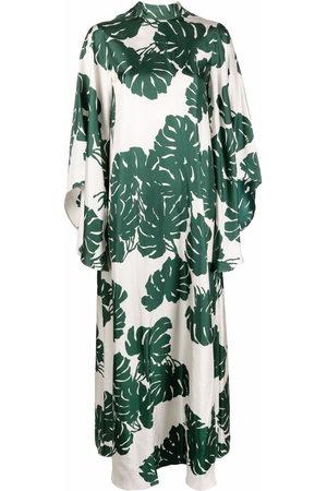 La DoubleJ Damen Freizeitkleider - Magnifico Seidenkleid mit Blatt-Print