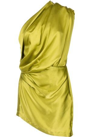 Michelle Mason Damen Asymmetrische Kleider - Asymmetrisches Minikleid aus Satin