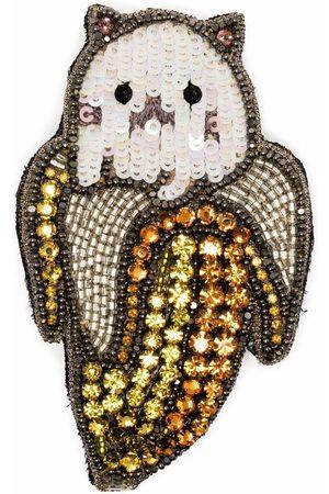 Gucci Embellished cat banana brooch