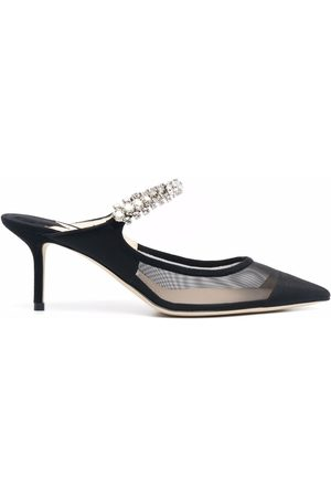 Jimmy Choo Crystal-embellished pointed-toe mules
