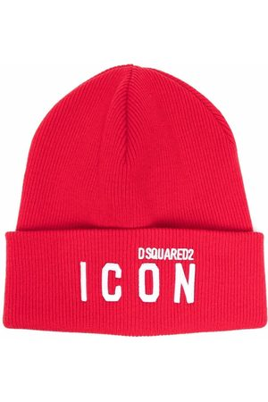 Dsquared2 Herren Hüte - Icon logo-embroidered knitted beanie