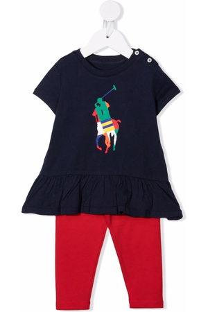 Ralph Lauren Kids Colour-block logo tracksuit set