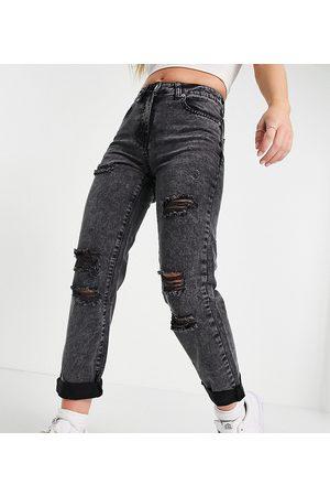 Parisian – Mom-Jeans im Used-Look in verwaschenem