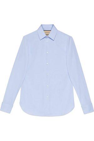 Gucci Hemd aus Baumwollpopeline mit verstecktem Etikett