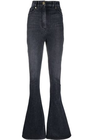 Balmain Damen Bootcut - Bootcut-Jeans mit hohem Bund