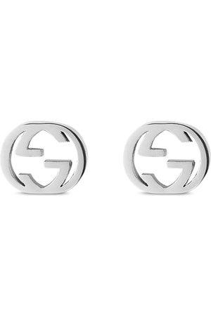 Gucci Damen Ohrringe - 18kt Weißgoldohrringe mit GG