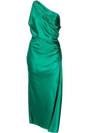 Michelle Mason Damen Asymmetrische Kleider - Asymmetrisches Seidenkleid mit Raffung