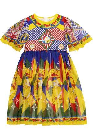 Dolce & Gabbana Exklusiv bei Mytheresa – Bedrucktes Kleid aus Seide