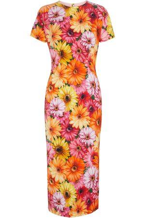 Dolce & Gabbana Damen Bedruckte Kleider - Bedrucktes Midikleid aus Seide