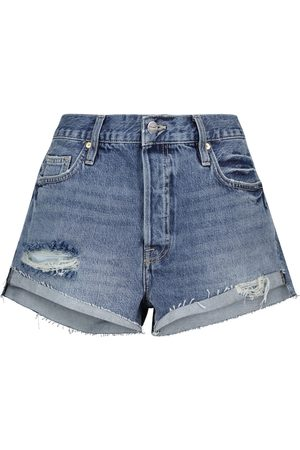 Frame High-Rise Jeansshorts Front Cuff