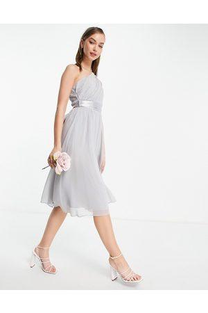 Little Mistress – Bridesmaid – Midikleid mit One-Shoulder-Träger in