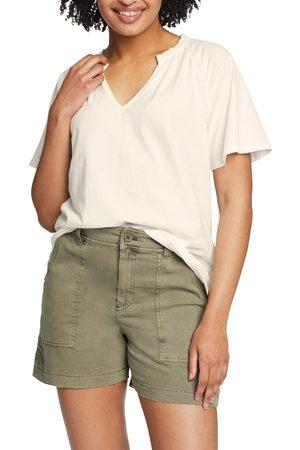 Eddie Bauer Ophelia T-Shirt Damen Natur Gr. XS