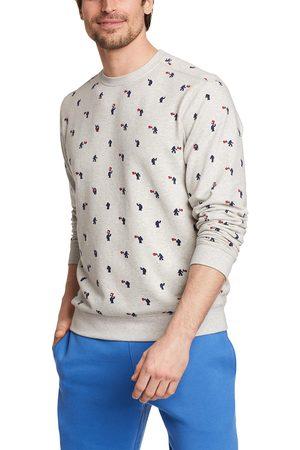 Eddie Bauer Herren Sweatshirts - Camp Fleece Sweatshirt - Bedruckt Herren Gr. S